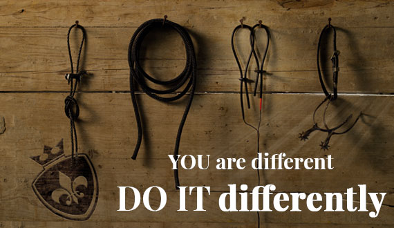 YOU are different, DO IT differently